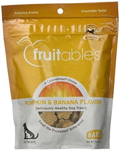 - Fruitables Baked Dog Treats Pumpkin & Banana Flavor 7 Oz