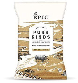 EPIC PORK RINDS AND CRACKLING Texas BBQ Rinds Rings 2.5 OZ Pack of 2