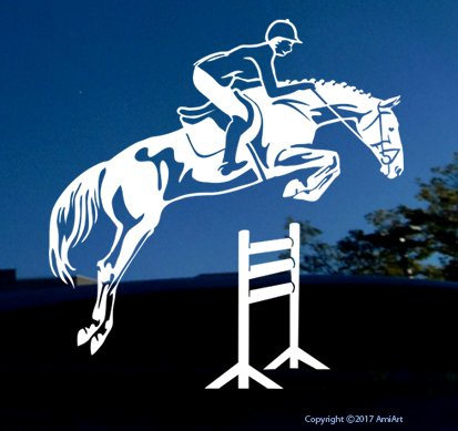 jumping horse trailer decal - 5