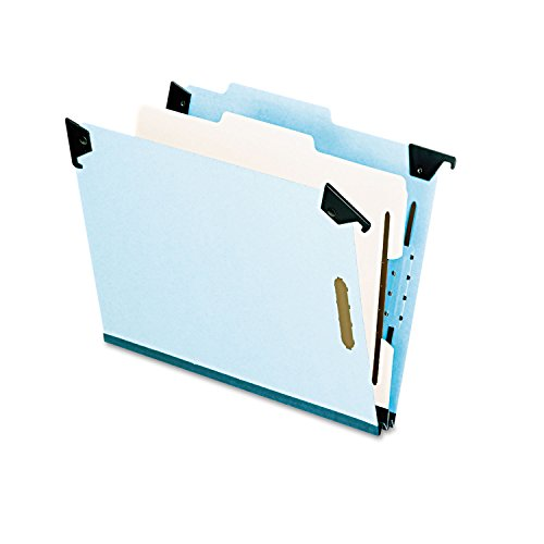 Esselte Recycled Hanging Classification Folder - Letter - 8.5amp;quot; x 11amp;quot; - 1 Divider - 2amp;quot; Expansion - 1 Each - 25pt. - Blue - Esselte Recycled Hanging Classification Folder