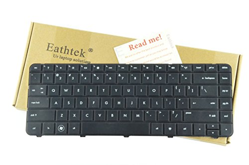Eathtek Replacement Keyboard for HP Compaq Presario CQ43 CQ57 CQ58 CQ-58 series Black US Layout