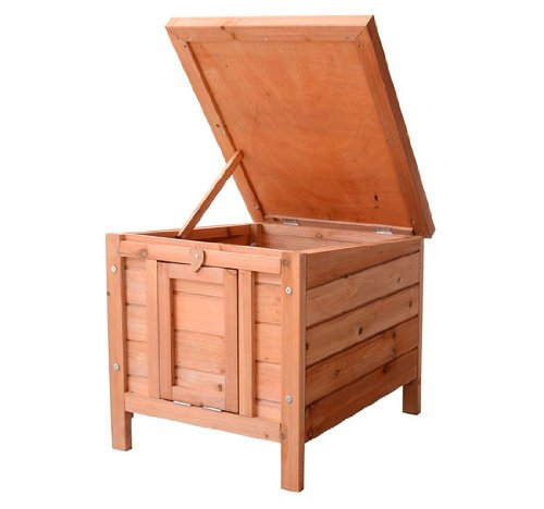 PawHut Small Wooden Bunny Rabbit/Guinea Pig House by PawHut (Image #8)