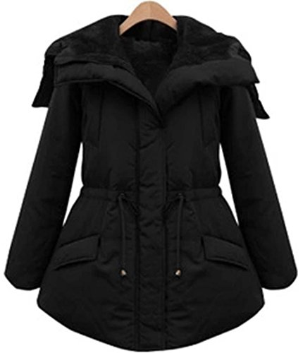Every Damen Wintermantel Mit Kapuze Dicke Warme Lange Winterjacke