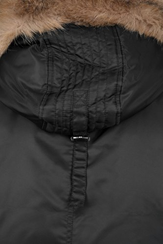 Hooded Heavy black Nero 7 Uomo Classics Fur Bomber Jacket Urban Fake Ez5Raxwq