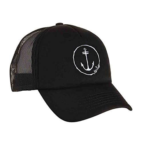 Anchor Logo Trucker Rejilla Gorra de VIENTO Negro 8Uq10IO
