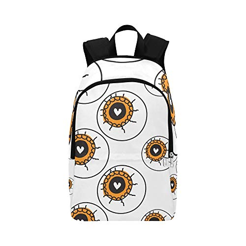 YSWPNA Halloween Allseeing Eyeball Beautiful Casual Daypack Travel Bag College School Backpack for Mens and Women ()
