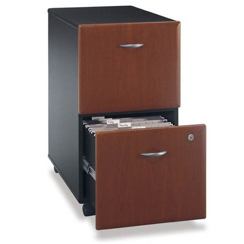 Bush Furniture Series A 2 Drawer Vertical Mobile Wood File Cabinet in Beech and ()