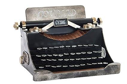 Indhouse - Máquina de escribir decorativa de metal para decoración vintage