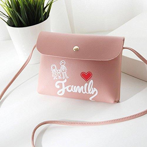 Hasp Bandoulière Portable Sac Rose Zipper Ajustable Femme Mode de à Téléphone Bovake Sac nF0aZAfqaw