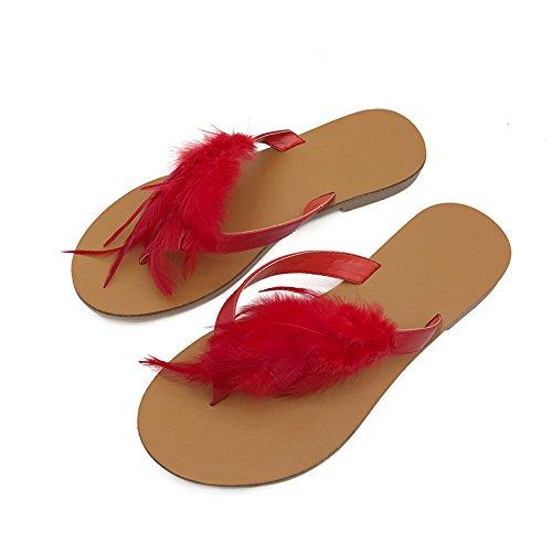 Red spiaggia 40 Flops love Color Angel piatte nero EU Flip da Piumino beauty da colore Red e da esterno donna Size Pantofole spiaggia per rosso wIBxSB8Hq