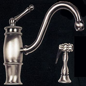 Hamat 3-3153/1-ST Country Classic Kitchen Faucet w/ Metal Side ...