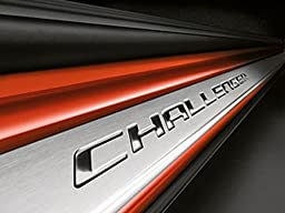 2008-2013 Dodge Challenger Stainless Steel Door Sill Entry Guards w/ Challenger Logo