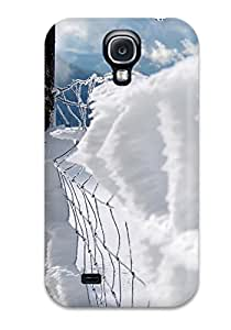 DPatrick Fashion Protective Snow Covered Fence Case Cover For Galaxy S4