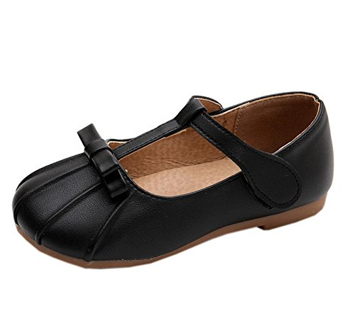 s Ruched Round Toe T Strap Mary Jane Dress Shoes Black 11 ()