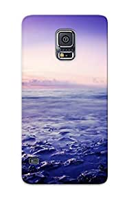 New Tpu Hard Case Premium Galaxy S5 Skin Case Cover(morning Mist At Sea)