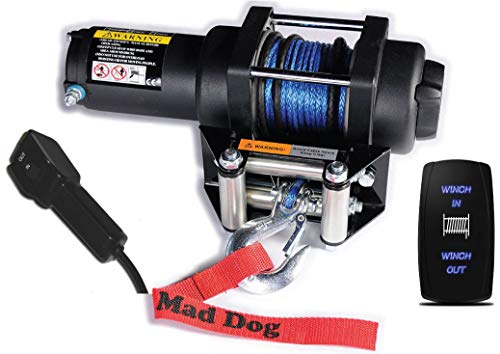 Mad Dog 4500# Synthetic Rope Winch Mount Combo 2016-2019 Yamaha Wolverine X2 / X4 / R-Spec/SE (All Wolverine Models) -  Mad Dog Products, Mad Dog 4500# KFI 101515