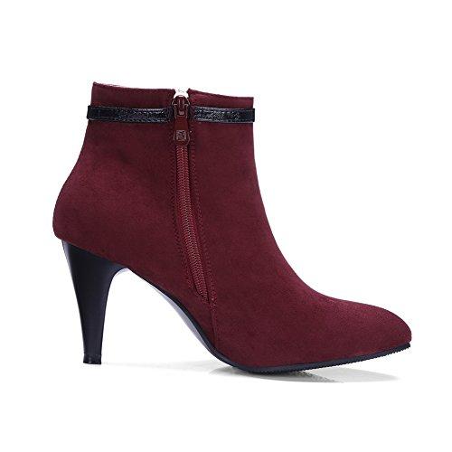 Rouge Bas EU An 5 Dku01682 36 Femme Bordeaux tftSq6