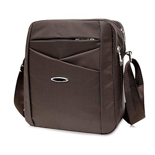 Hombres Y Mujeres Messenger Ipad Hombro Totalizador Honda Ocio Bolsa Brown Oxford,Brown-22cm*7cm*27cm
