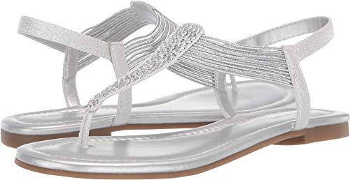 Bandolino Womens Kayte Sandal Silver 10.5 M