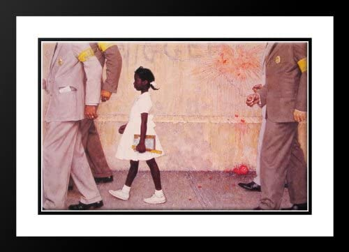 The Problem we All Live with 20x23 Framed and Double Matted Art Print by Rockwell, Norman