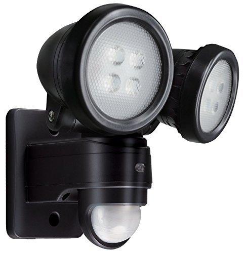 new concept 37112 8d85b Titan Professional Twin Spot LED PIR Floodlight, Black