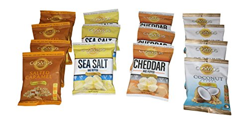 Cosmos Creations Premium Puffed Pop Corn Variety Pack Of 14   4 Flavors   604Vp