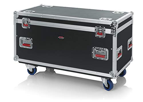 Gator Cases G-TOUR Series Equipment Storage Case / Cable Trunk with Heavy Duty Casters, Adjustable Dividers and Storage Trays, Truck Pack Size; 45