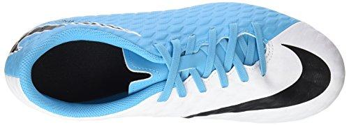 Nike Hypervenom Phade 3 Fg, Botas de Fútbol Unisex Niños Varios colores (White / Black / Photo Blue / Chlorine Blue)