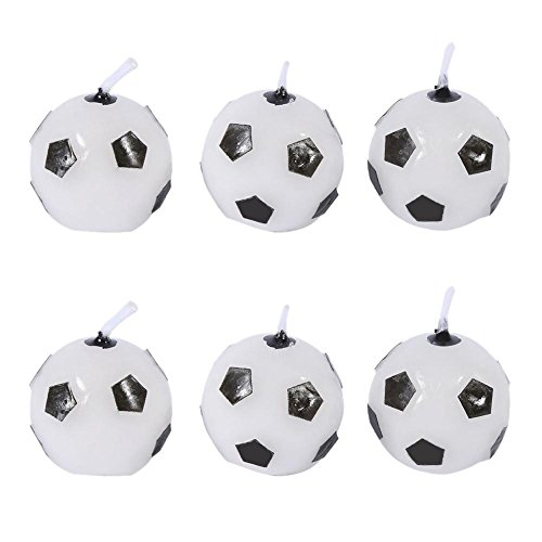 6Pcs Cute Soccer Ball Football Birthday Party Cake Candles Decorations Supplies Tool for Kids Toy Gift Decorations for Home