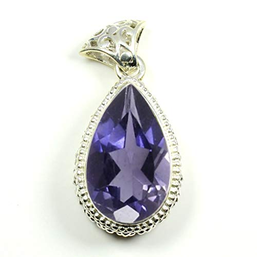 55Carat Choose Your Color Natural Gemstone Sterling Silver Pendants Pear Shape Bezel Style Handcrafted