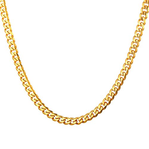 - TUOKAY 18K Small Gold Chain 3mm Width, 24
