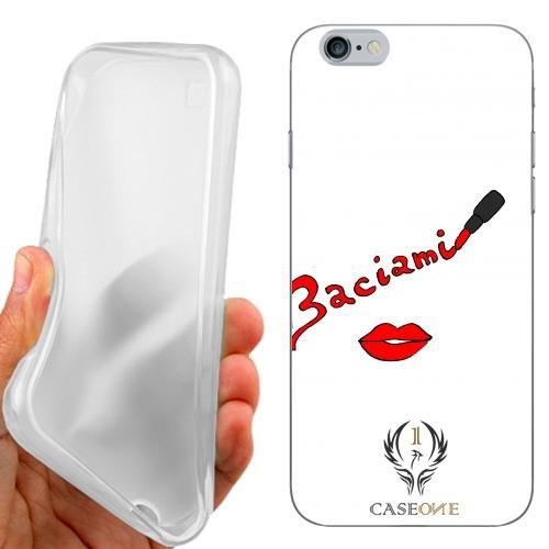 CUSTODIA COVER CASE CASEONE BACIAMI ROSSETTO PER IPHONE 6 4.7 POLLICI