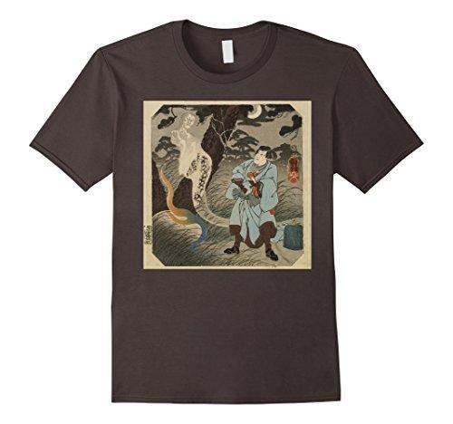 - Mens Japanese Ghost Wants Revenge T-shirt - Vintage Retro Art XL Asphalt