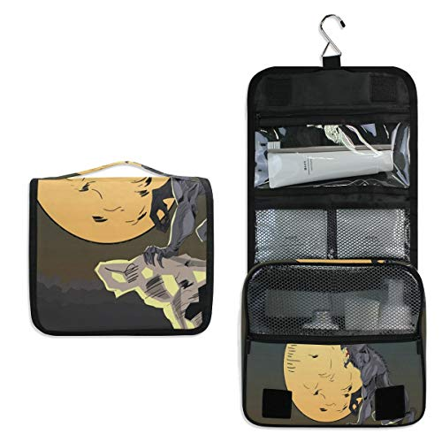 Makeup Bag Halloween Background With Wolf Toiletry Bag Travel Cosmetic Organizer Waterproof Wash Bag for Men Women -