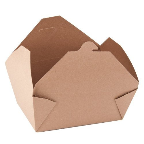 Southern Champion Tray 0764 #4 ChampPak Retro Take-Out Container, Kraft Paperboard with Poly Coated Inside, 7-3/4