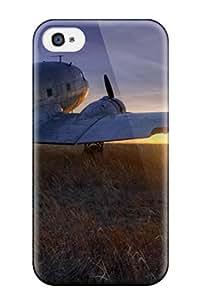 Lennie P. Dallas's Shop 7226269K71975971 Excellent Design Airplane In The Sunset Phone Case For Iphone 4/4s Premium Tpu Case
