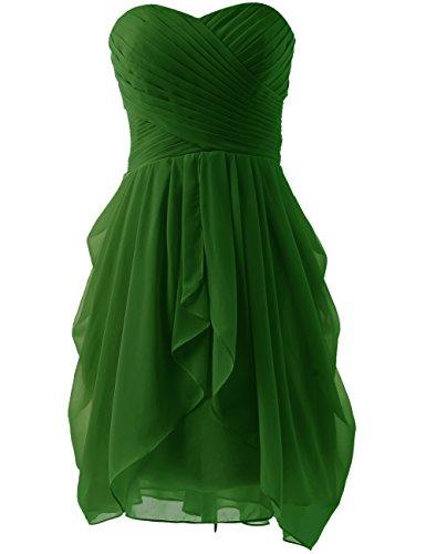 de Oscuro sin reunido HUINI ropa corto honor dama paseo tirantes gasa vestido mar¨ªtimo Verde O6ttxCqwF