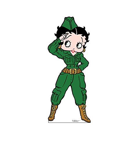 Advanced Graphics Betty Boop Soldier Life Size Cardboard Cutout Standup