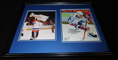 Mike Bossy Signed Framed 1984 Sports Illustrated Cover + Photo Set Islanders - Autographed NHL Magazines