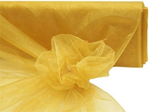 "Yellow CRYSTAL ORGANZA FABRIC 54/"" x 40 yards Sheer Bolt Craft Sewing Wedding"