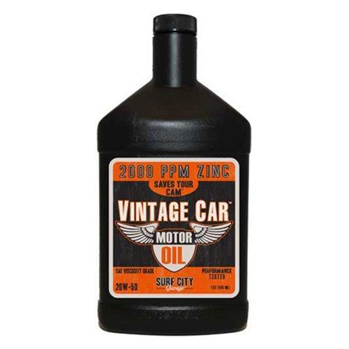Surf City Garage 517 Vintage Car Motor Oil 20W50, Quart Bottle, 6/Case - Lot of 6