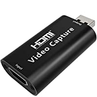 Aoslen Audio Video Capture Card, 1080P 60fps Game Capture Card, HDMI to USB 2.0 Record to DSLR Camcorder Action Cam,Computer for Gaming, Streaming, Teaching, Video Conference or Live Broadcasting