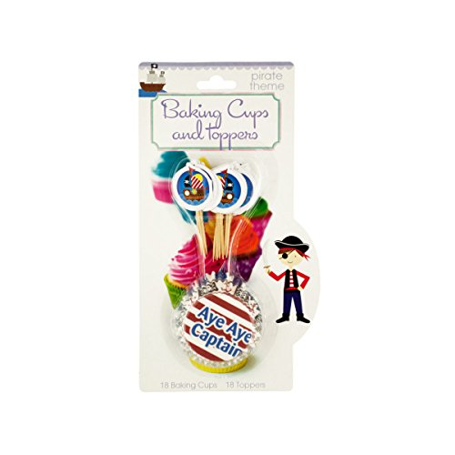 Bulk Buys Kids Cupcake Baking Cups & Toppers Set - Pack of 72