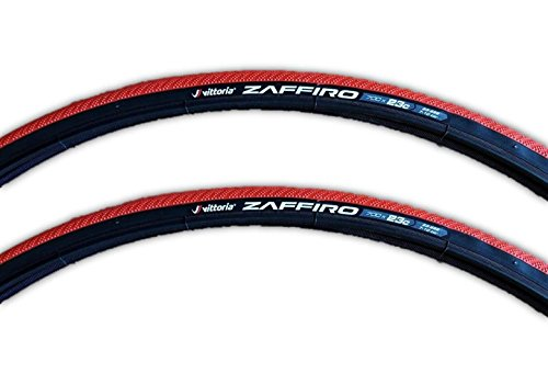 Vittoria Zaffiro III Wire Bead Road Bike Tire 700x23mm RED - PAIR (2 TIRES)