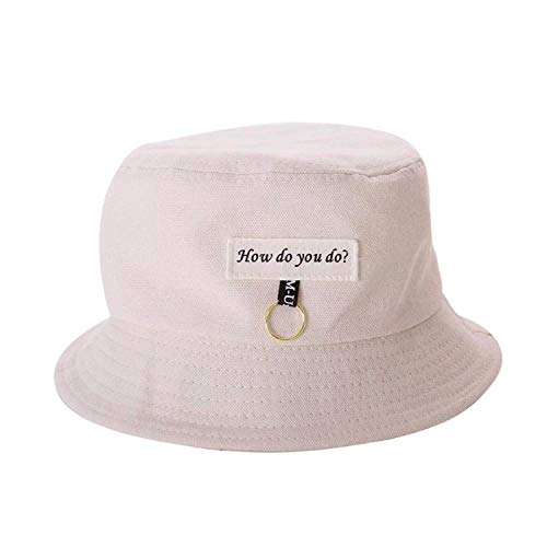 Metal Circle Bucket Casual Cap Women Cute Summer Sun Hat Korean Style Fashion Letters Label Tag Decoration Champagne -