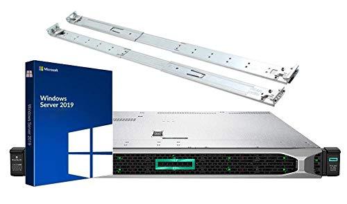 HP ProLiant DL360 Gen10 Server Bundle with Windows Server 2019, 2 Intel Silver 4110 8 Core CPUs, 256GB DDR4 RAM, 15.36TB Enterprise SSDs, RAID, Rail Kit