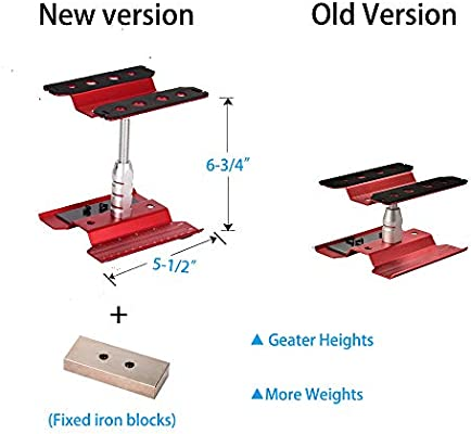 Red, Gen 2 Xpurc New Upgraded Rc Car Stand Repair Workstation Aluminum Alloy 360 Degree Rotation Lift or Lower for 1//10 1//12 1//8 Scale Truck Crawler Buggy