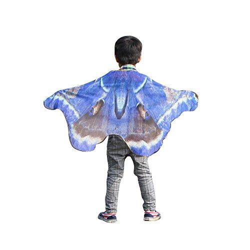 iYBUIA Summer Sun Protection Child Boys Girls Bohemian Monarch Butterfly Print Shawl Pashmina Costume Accessory]()