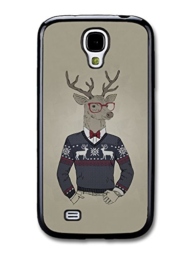 Funny Cute Deer in Christmas Jumper Looking Cool coque pour Samsung Galaxy S4