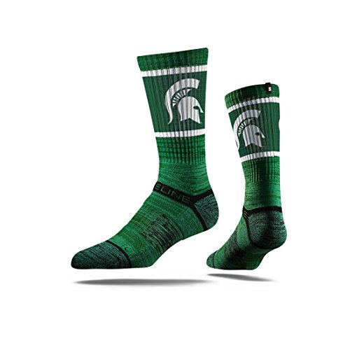 Mascot Michigan Spartans State (Strideline NCAA Michigan State Spartans Premium Athletic Crew Socks, Green, One Size)